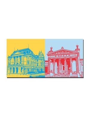ART-DOMINO® BY SABINE WELZ Schwerin - Staatstheater + Staatliches Museum
