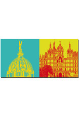 ART-DOMINO® BY SABINE WELZ Schwerin - Schloss Schwerin - Kuppel Gold + Schloss Schwerin
