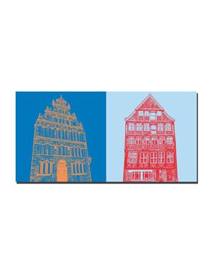 ART-DOMINO® BY SABINE WELZ Stade - Bürgermeister Hintze Haus + Kunsthaus Stade