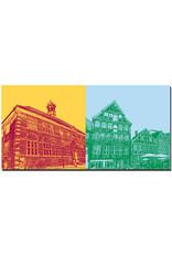 ART-DOMINO® BY SABINE WELZ Stade - Rathaus Stade + Kunsthaus Stade und Häuserzeile