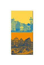 ART-DOMINO® BY SABINE WELZ Stade - Bürgerhäuser + Fachwerkhäuser am Hansehafen