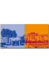 ART-DOMINO® BY SABINE WELZ Saint Tropez - Musée de l'annonciade + Häuser am Hafen