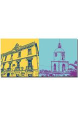 ART-DOMINO® BY SABINE WELZ Saint Tropez - Rathaus + Notre Dame de l'assomption
