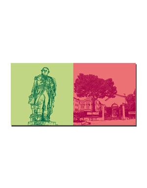 ART-DOMINO® BY SABINE WELZ Saint Tropez - Denkmal-Pierre André de Suffren + Musée de l'annonciade
