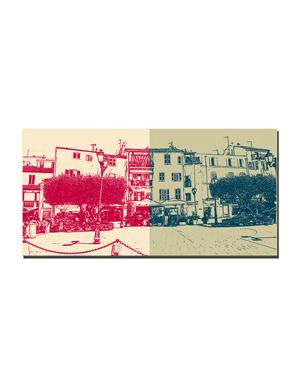 ART-DOMINO® BY SABINE WELZ Saint Tropez - Place de la Garonne + Place de la Garonne