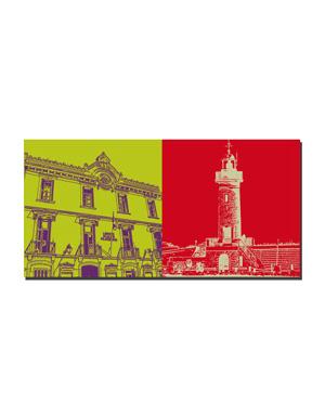ART-DOMINO® BY SABINE WELZ Saint Tropez - Rathaus + Leuchtturm