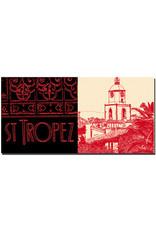 ART-DOMINO® BY SABINE WELZ Saint Tropez - Schriftzug Saint Tropez  + Notre Dame de l'assomption