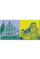 ART-DOMINO® BY SABINE WELZ Stuttgart - Fruchtkasten + Altes Schloss
