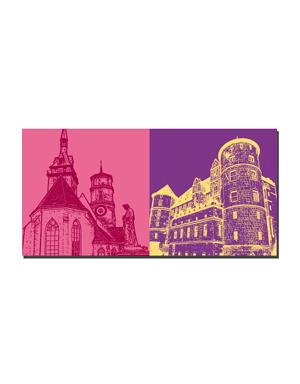 ART-DOMINO® BY SABINE WELZ Stuttgart - Stiftskirche + Altes Schloss