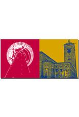 ART-DOMINO® BY SABINE WELZ Stuttgart - Fernsehturm + Hauptbahnhof