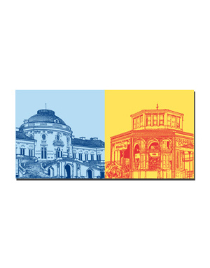 ART-DOMINO® BY SABINE WELZ Stuttgart - Schloss Solitüde + Wilhelma