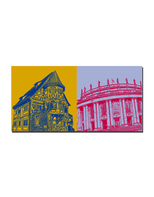 ART-DOMINO® BY SABINE WELZ Stuttgart - Klösterle + Oper