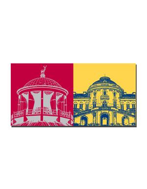 ART-DOMINO® BY SABINE WELZ Stuttgart - Kunstgebäude + Schloss Solitüde