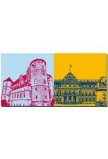 ART-DOMINO® BY SABINE WELZ Stuttgart - Altes Schloss + Neues Schloss