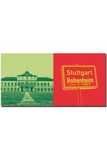 ART-DOMINO® BY SABINE WELZ Stuttgart - Uni Hohenheim + Ortsschild