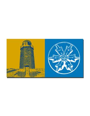 ART-DOMINO® BY SABINE WELZ Sylt - Leuchtturm Rotes Kliff + Kampen Stranddistel