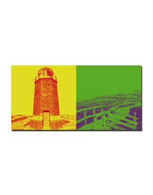 ART-DOMINO® BY SABINE WELZ Sylt - Leuchtturm Rotes Kliff + Dünenweg zur Sturmhaube