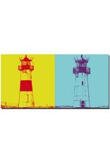 ART-DOMINO® BY SABINE WELZ Sylt - Leuchtturm List-Ost + Leuchtturm List-West