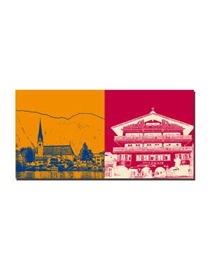 ART-DOMINO® BY SABINE WELZ Tegernsee - Rottach-Eggern St. Laurentius + Rottach-Egern, Haltmair