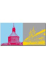 ART-DOMINO® BY SABINE WELZ Tegernsee - Wallberg, Heilig Kreuz-Kirche + Tegernsee Klostergebäude