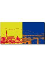 ART-DOMINO® BY SABINE WELZ Tegernsee - Rottach-Eggern St. Laurentius + Blick Tegernsee
