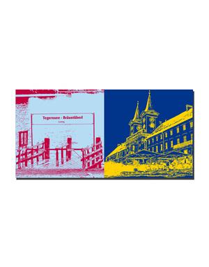 ART-DOMINO® BY SABINE WELZ Tegernsee - Tegernsee Anlegesteg - Bräustüberl + Tegernsee Klostergebäude