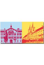 ART-DOMINO® BY SABINE WELZ Tegernsee - Tegernsee-Rathaus + Tegernsee Klostergebäude