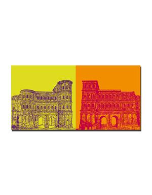 ART-DOMINO® BY SABINE WELZ Trier - Porta Nigra Südseite + Porta Nigra Nordseite