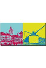 ART-DOMINO® BY SABINE WELZ Trier - St. Gangolf und Petrusbrunnen + Alter Krahnen