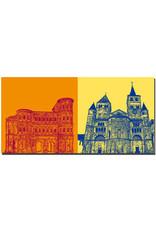ART-DOMINO® BY SABINE WELZ Trier - Porta Nigra Südseite + Dom St. Paulus