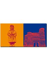 ART-DOMINO® BY SABINE WELZ Trier - Fischer Matthes + Porta Nigra Stadtseite