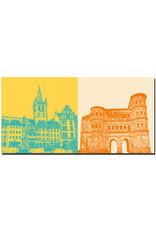 ART-DOMINO® BY SABINE WELZ Trier - St. Gangolf-Hauptmarkt + Porta Nigra Südseite