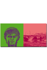 ART-DOMINO® BY SABINE WELZ Trier - Kaiser Nero + Kaiser-Wilhelm-Brücke