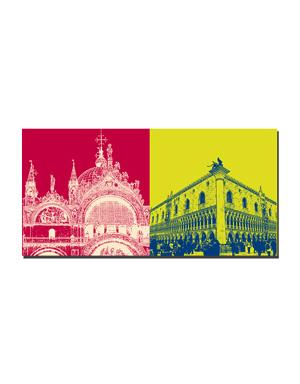 ART-DOMINO® BY SABINE WELZ Venedig - Basilika di San Marco + Dogenpalast