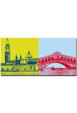 ART-DOMINO® BY SABINE WELZ Venedig - Rialtobrücke + San Giorgio Maggiore