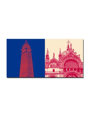 ART-DOMINO® BY SABINE WELZ Venedig - Glockenturm + Basilika di San Marco