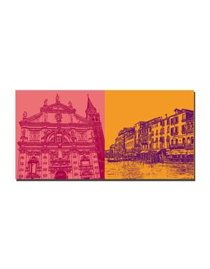 ART-DOMINO® BY SABINE WELZ Venedig - San Moisè + Canale Grande