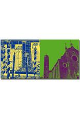 ART-DOMINO® BY SABINE WELZ Venedig - Gondelanleger + San Maria Dei Frari