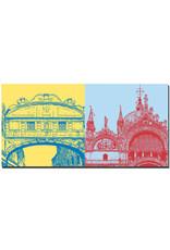 ART-DOMINO® BY SABINE WELZ Venedig - Seufzerbrücke + Basilika di San Marco
