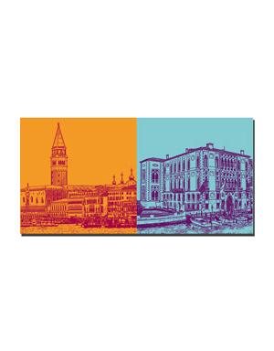 ART-DOMINO® BY SABINE WELZ Venedig - Skyline Venedig + Palazzo Cavelli-Franchetti