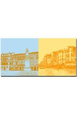 ART-DOMINO® BY SABINE WELZ Venedig - Campo St. Stefano + Canale Grande