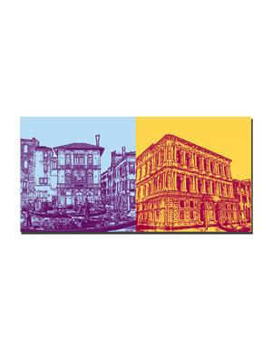 ART-DOMINO® BY SABINE WELZ Venedig - Gond. Canal Grande + Palazzo Rizzonico