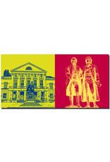 ART-DOMINO® BY SABINE WELZ Weimar - Deutsches Nationaltheater + Goethe und Schiller Denkmal