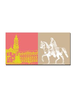 ART-DOMINO® BY SABINE WELZ Weimar - Stadtschloss + Karl-August von Sachsen-Weimar-Eisenach