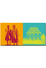 ART-DOMINO® BY SABINE WELZ Weimar - Goethe und Schiller Denkmal + Goethes Gartenhaus