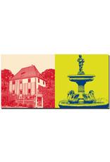 ART-DOMINO® BY SABINE WELZ Weimar - Goethes Gartenhaus + Gänsemännchenbrunnen