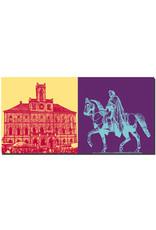 ART-DOMINO® BY SABINE WELZ Weimar - Rathaus + Karl-August von Sachsen-Weimar-Eisenach