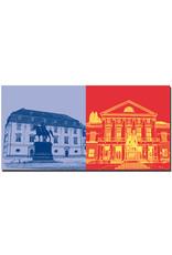 ART-DOMINO® BY SABINE WELZ Weimar - Anna Amalia Bibliothek + Deutsches Nationaltheater