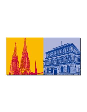 ART-DOMINO® BY SABINE WELZ Wien - Votivkirche + Akademie der Künste