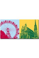 ART-DOMINO® BY SABINE WELZ Wien - Riesenrad im Prater + Stephansdom